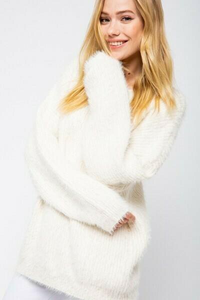 Ivory Oversized Cozy Sweater