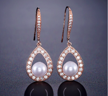 Caged Pearl Drop Earring