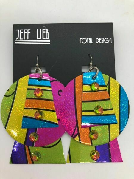 Jeff Lieb Handmade Bright Colorful Earrings