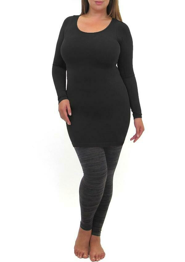 Extended Size Long Sleeve Dress