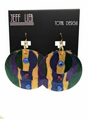 Jeff Lieb Handmade Fun Colorful Large Statement Earring