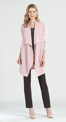 Clara Sun Woo Cozy Peach  Sweater Drape Cardi