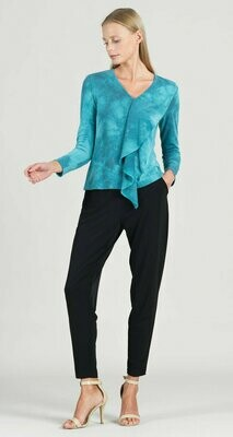 Tie Dye Print Cascade Drape Sweater Top
