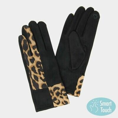 Leopard Pattern Smart Touch Gloves