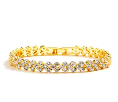 Round AAA CZ Cluster Bracelet