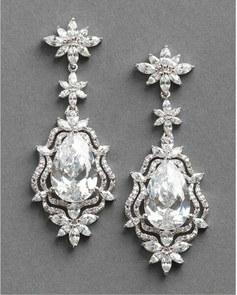 Gorgeous Large Pear Drop Marquis Earring