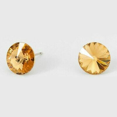 CRE1002 10MM Round Crystal Stud Earrings