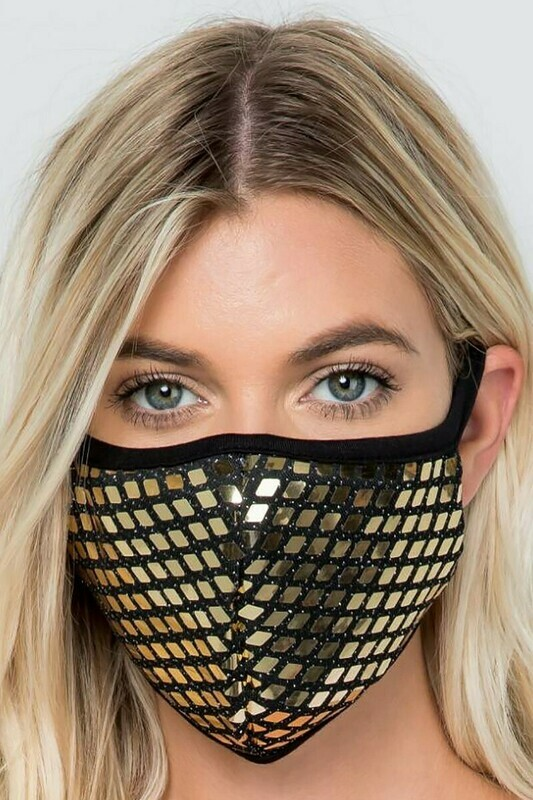 Sequin Accent Washable Face Masks