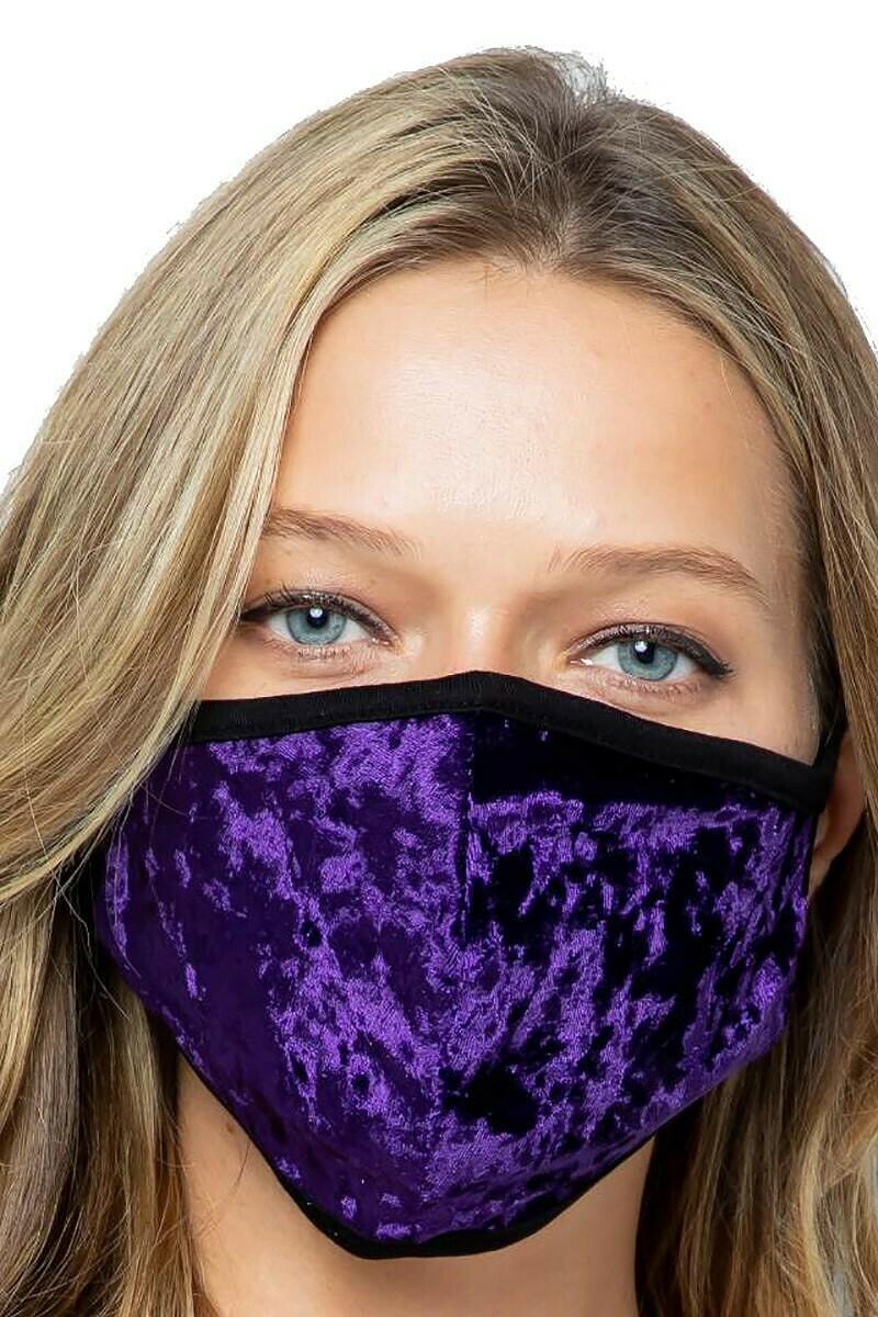 Velvet Fashion Face Masks