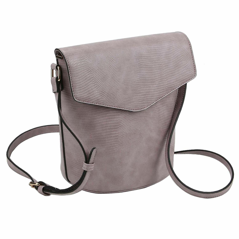 Python Snakeskin Bucket Crossbody Bag