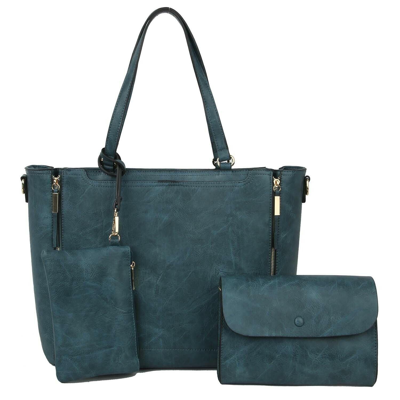 Fashion Zipper 3-in-1 Shopper Handbag