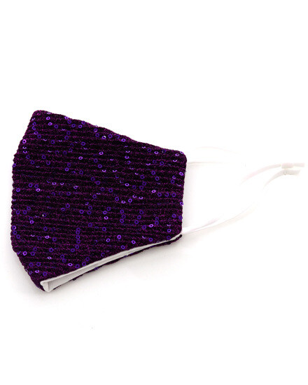 Sequin Fashion Mask With Filter Pocket