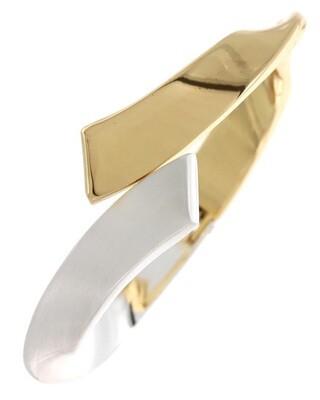 2 Metal Tone Cure Hinge Cuff Bracelet