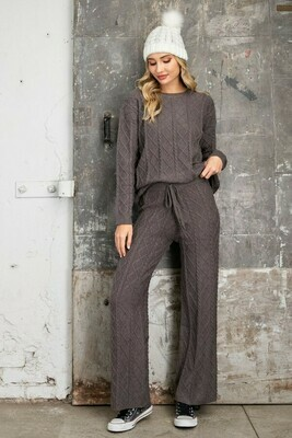 Titanium Cable Twist Pattern Lounge Pants