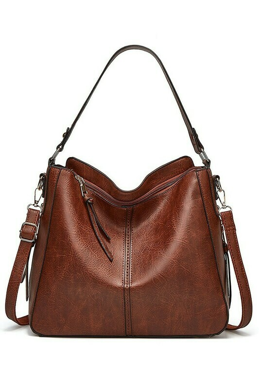 Vegan Leather Shoulder Handbag