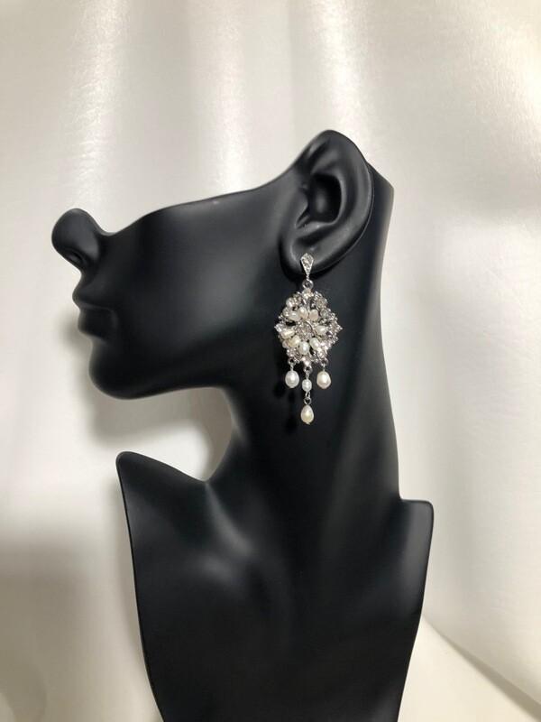 Freshwater Pearl Chandelier Earrings