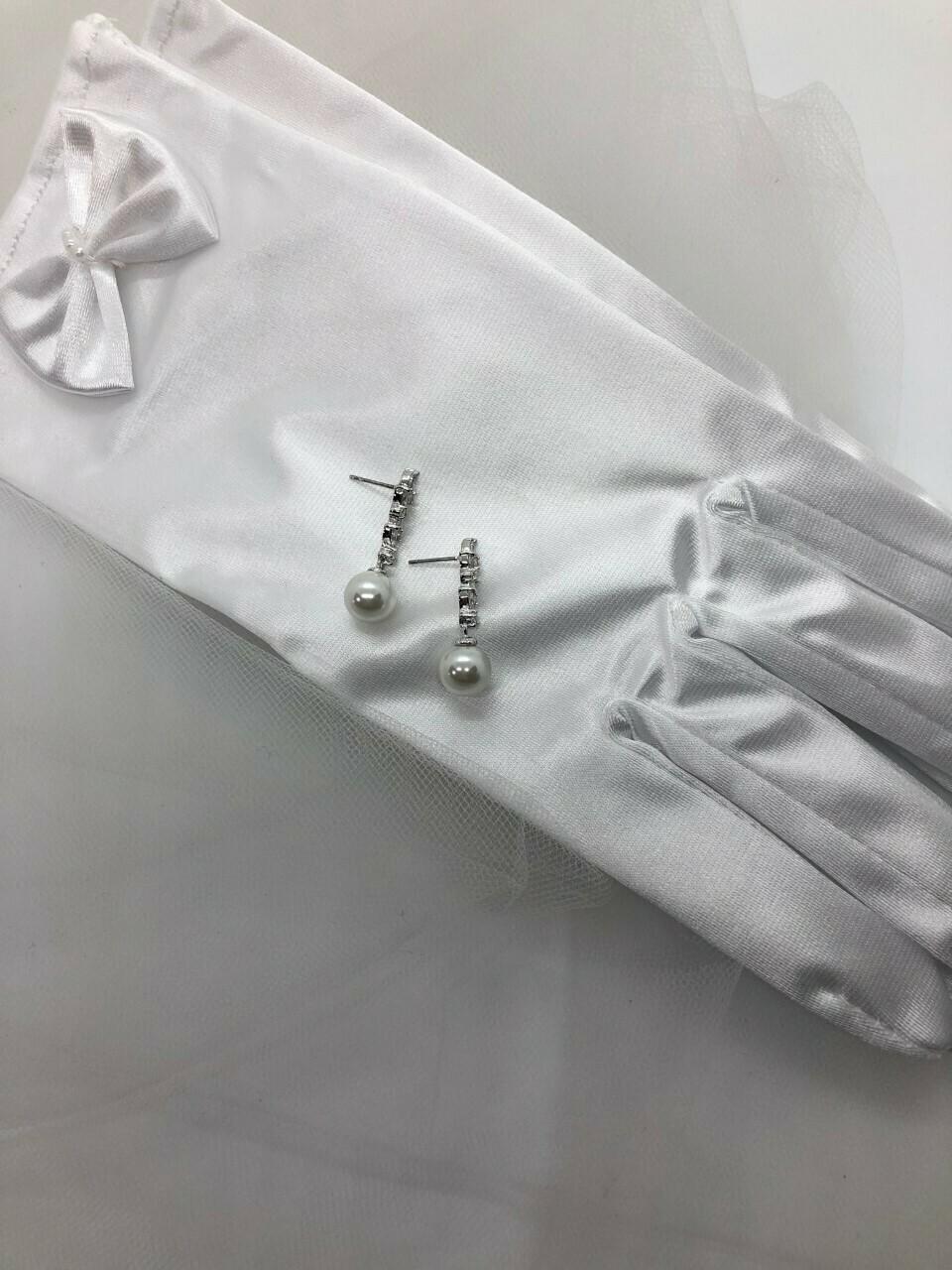 Cascading CZ Pearl Bridal Earring