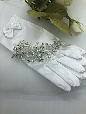 Crystal Spray Bridal Hair Clip with Faceted Teardrops
