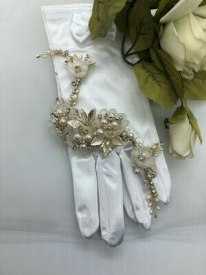 Spectacular Tulle Flower & Crystal Large Hair Clip