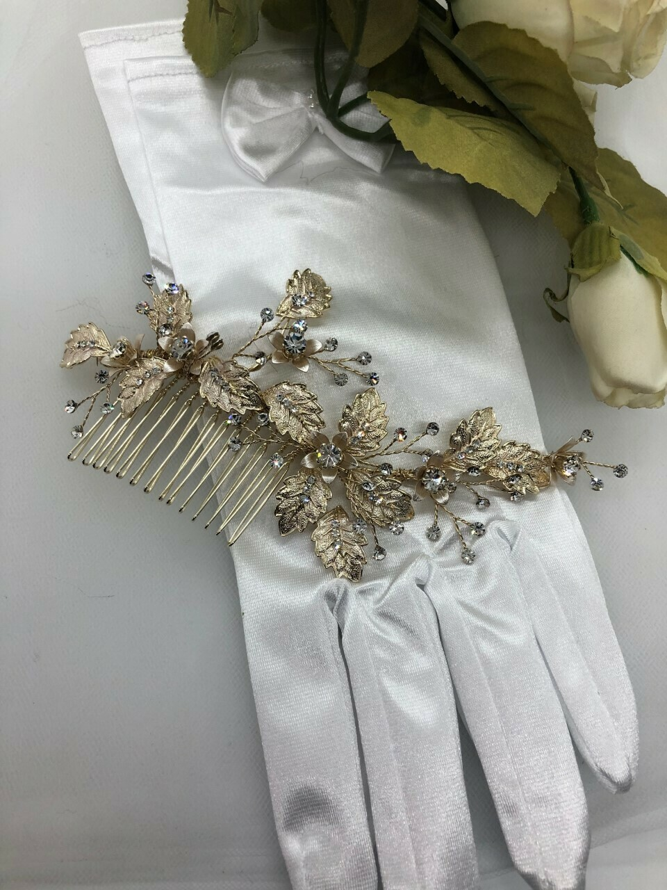 Gorgeous Gold Leaf Floral Hair Comb