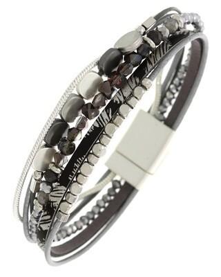 Multi Strand Glass Band Magnetic Bracelet