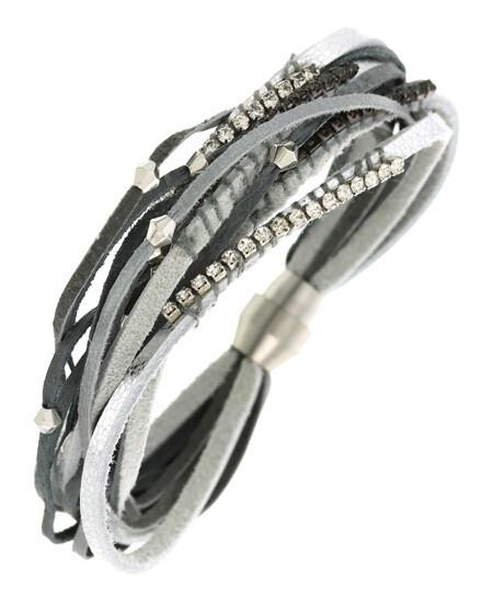 Multi Strand Leatherette Band Bracelet