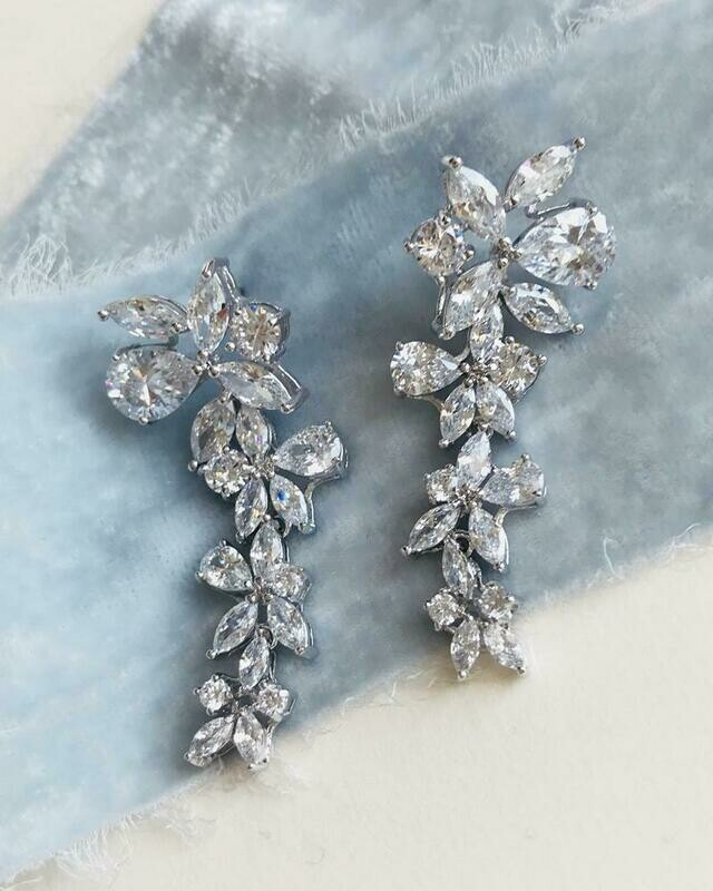 Multi Shape Cascading Formal Earrings