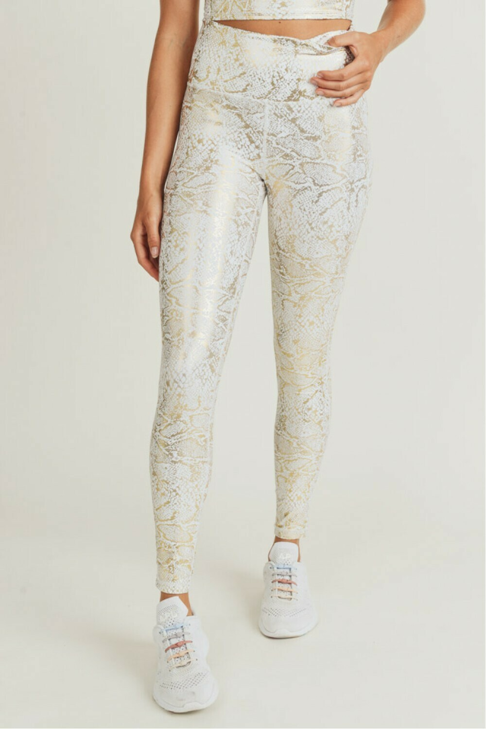 Gold Snake Print Highwaist Leggings
