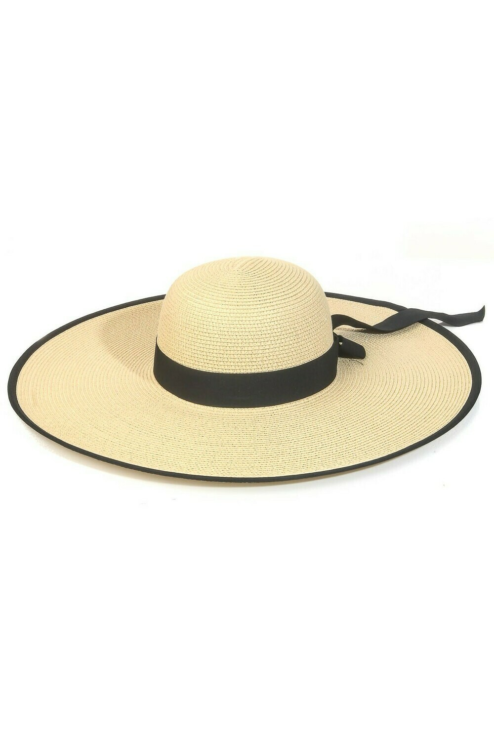 Wide Straw Braid Ribbon Sun Hat