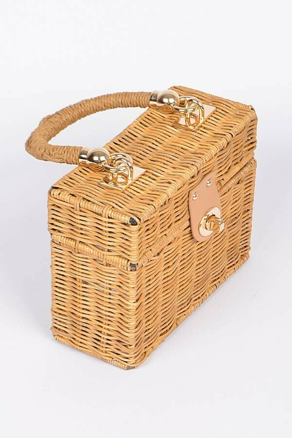 Bamboo Braided Jewelry Box Inspired Clutch