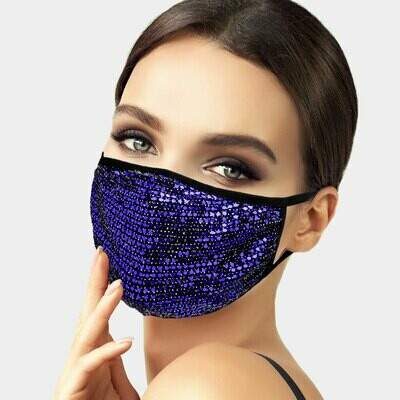 Sequin Accent Washable Face Masks