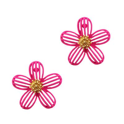 Open Floral Stud Earring