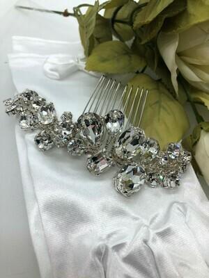 Bold Multi Shape Crystal Hair Comb