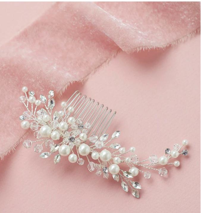 Crystal Spray Pearl Hair Comb
