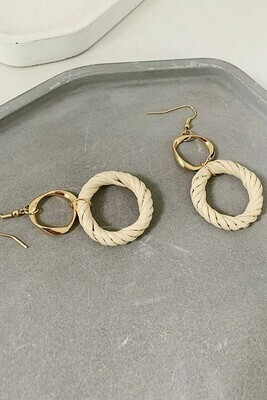 Woven Hoop Drop Earrings