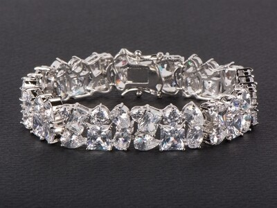 Bedazzling Formal Bracelet in Multi Shaped Cubic Zirconias