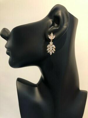 Marquise CZ Cubic Zirconia Evening Earrings