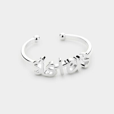 Sterling Silver Dipped Sisters Message Ring