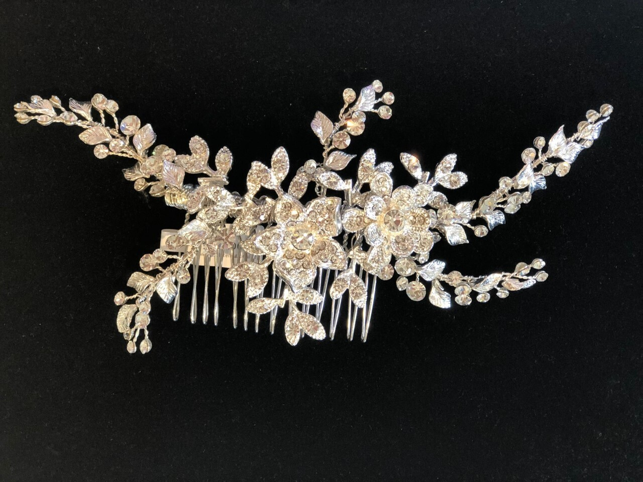 Beautiful Floral Leaf Branch Hair Comb