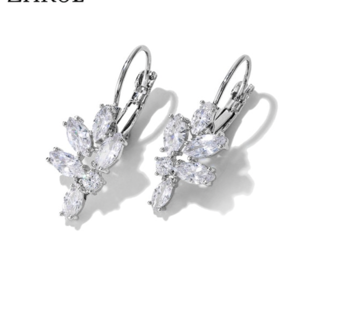 AAA Marquise Cubic Zirconia Cantilever Back Earrings
