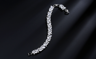 AAA Cubic Zirconia Round/Pear Formal Bracelet