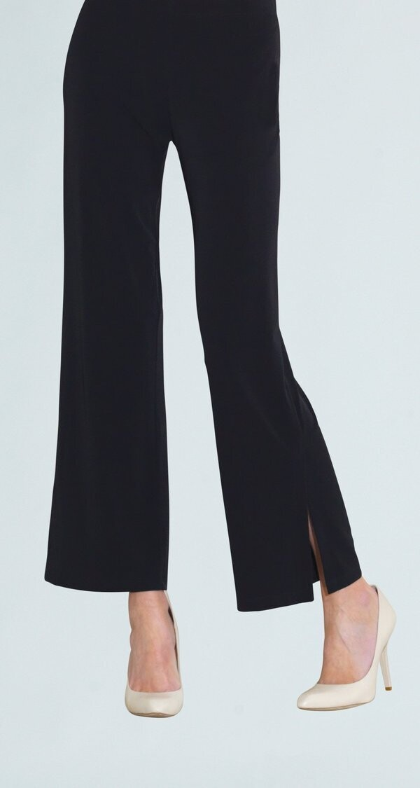 Black Side Slit Ankle Pant