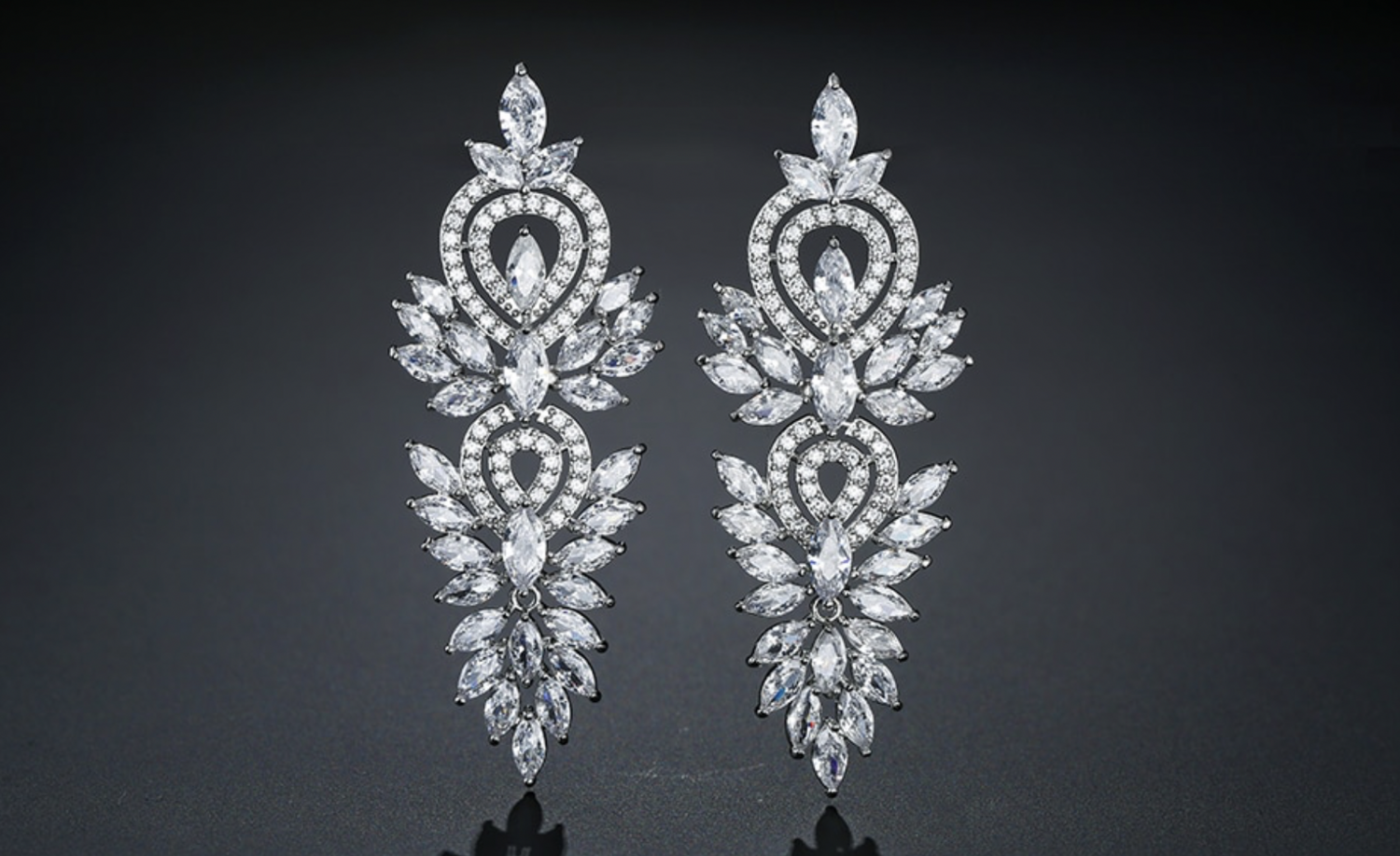 Spectacular Vintage Marquise Statement Earring
