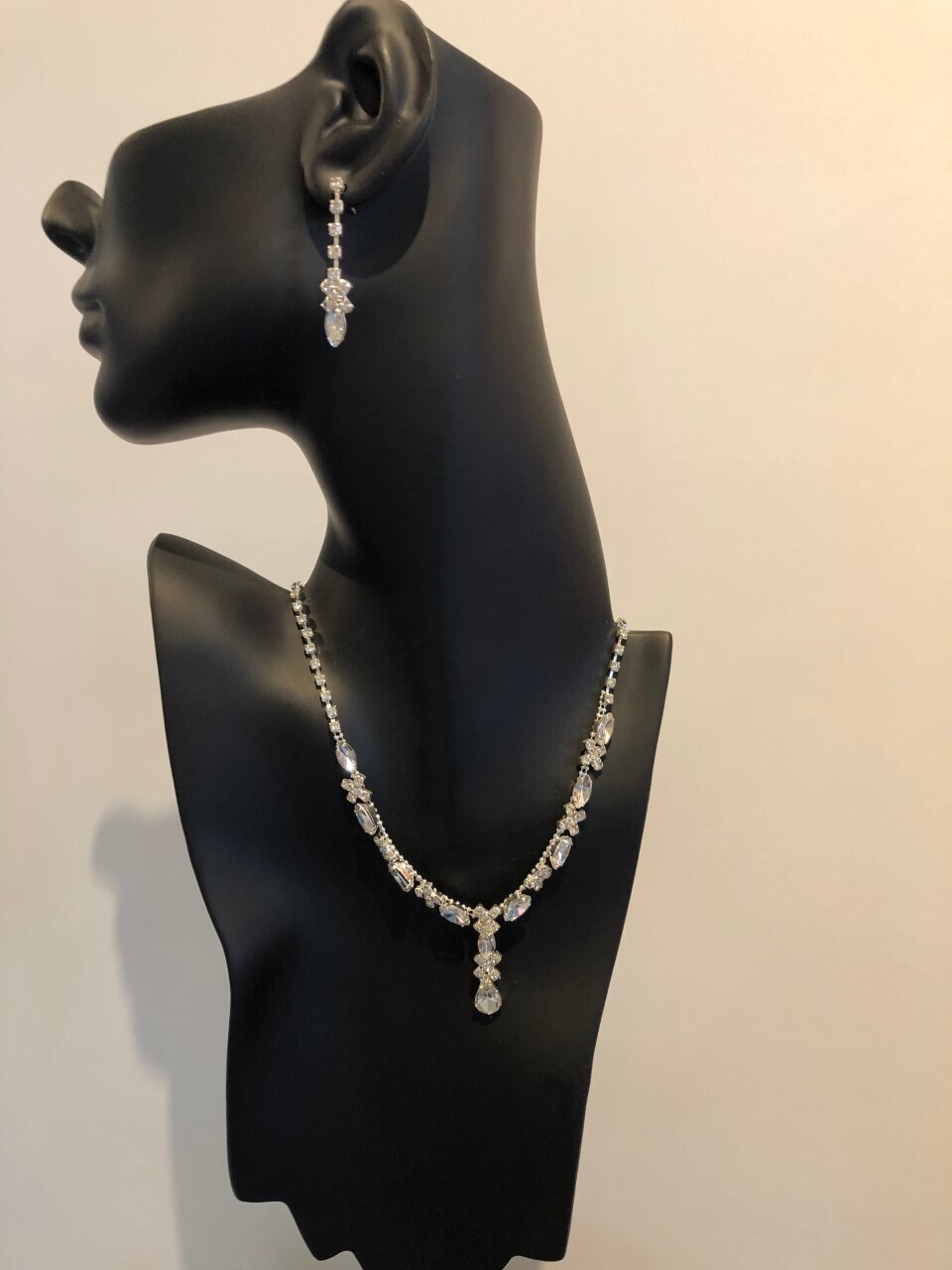 Clear Crystal Marquise/Pear Drop Set