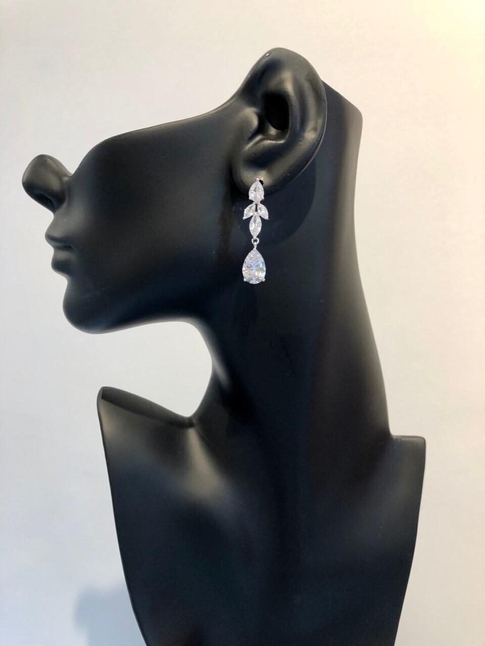 AAA Cubic Zirconia Multi Shape Drop Earring