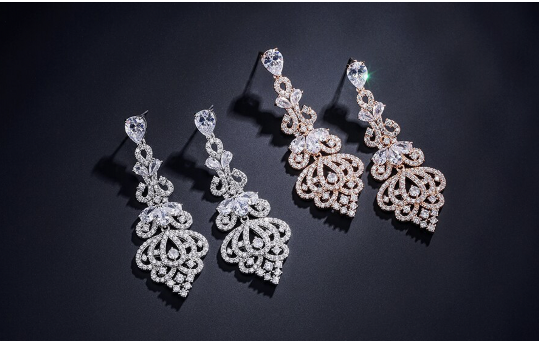 Gorgeous Vintage Zirconia Crystal Chandelier