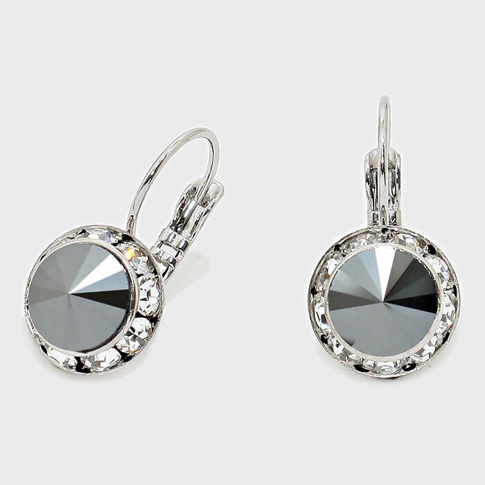 Rivoli Cut Genuine Austrian Crystal Drop Earrings