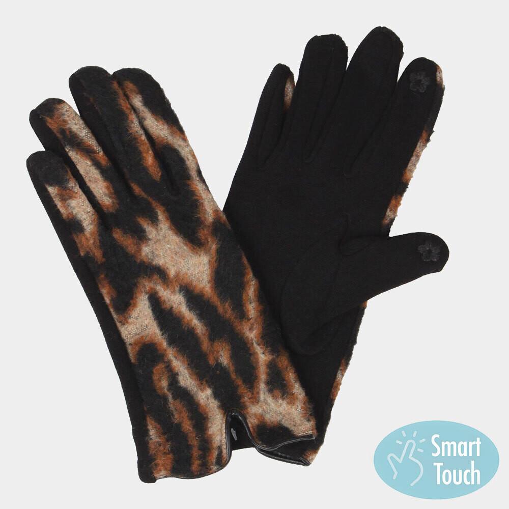 Leopard Patterned Smart Gloves