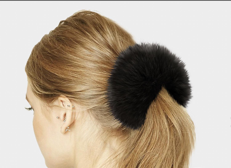 Real Fox Fur Hair Scrunchies