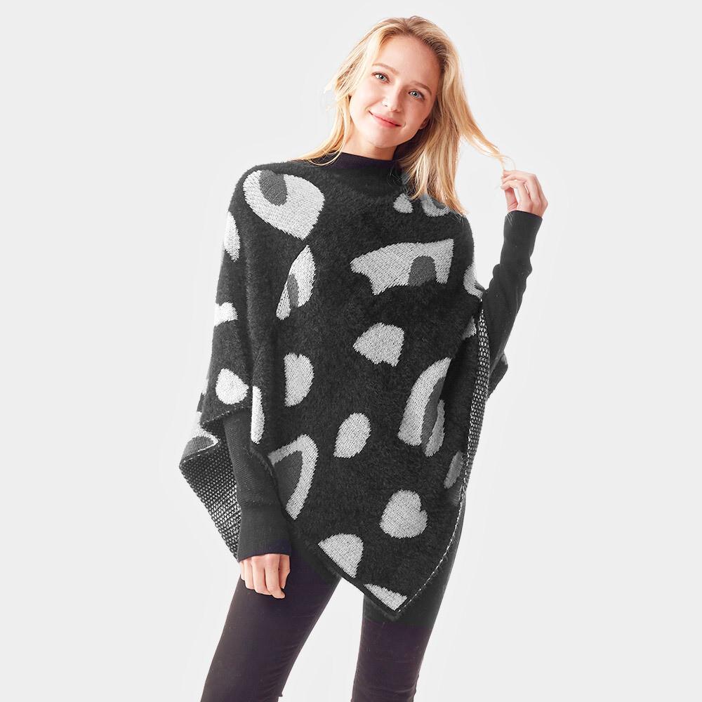 Leopard Patterned Soft Poncho